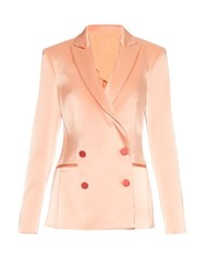 Racil Disco Double Breasted Tuxedo Blazer Light Pink