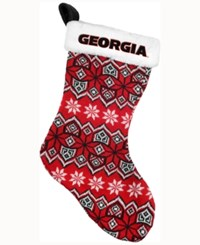 Forever Collectibles Georgia Bulldogs Ugly Sweater Knit Team Stocking Red