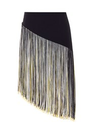 Christopher Kane Fringed Asymmetric Hem Mini Skirt
