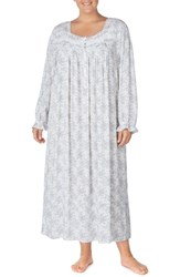 Eileen West Plus Size Long Sleeve Nightgown