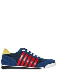 Dsquared Striped Nylon And Suede Leather Sneakers