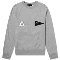 Gosha Rubchinskiy Velcro Patch Crew Sweat Grey