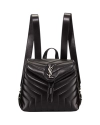 Saint Laurent Monogram Loulou Small Quilted Backpack Black