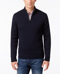 Barbour Men's Becket Quarter Zip Sweater Navy