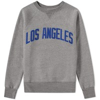 Ebbets Field Flannels Los Angeles Angels Crew Sweat Grey