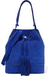 Sandro Angel Suede Shoulder Bag Blue