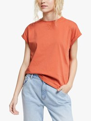 And Or Cotton Tank T Shirt Burnt Orange