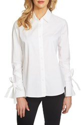 1.State Women's Tie Sleeve Blouse Ultra White