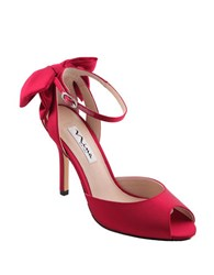 Nina Martina Oversize Bow Pumps Red