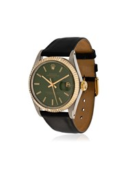 La Californienne Gilt Green Navy Rolex Oyster Perpetual Date Two