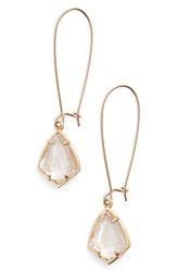 Kendra Scott Women's 'Carrine' Semiprecious Stone Drop Earrings Brown Mop Rose Gold