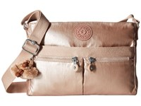 Kipling Angie Rose Gold Metallic Handbags