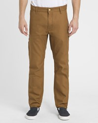 Carhartt Mustard Cargo Ruck Single Knee Patterson Trousers Yellow