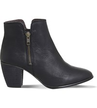 Office Justine Leather Ankle Boots Black Leather