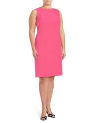 Nipon Boutique Plus Sleeveless Sheath Dress Pink