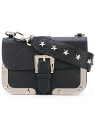 Red Valentino Star Studded Crossbody Bag Women Calf Leather One Size Blue