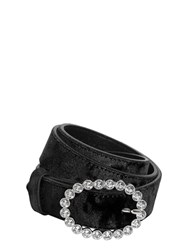 Kate Cate Madonna Crystal Buckle Velvet Red