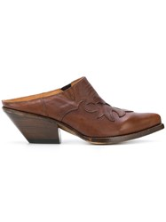 Buttero Elise Mules Brown