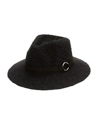 Collection 18 Knit Fedora Hat Black