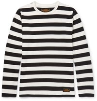Neighborhood Striped Knitted Cotton T Shirt Black