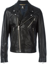 Paul Smith Ps Biker Leather Jacket Black