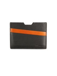 Miansai Two Tone Leather Card Case Black Orange