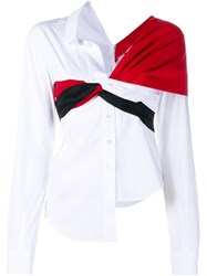 Jacquemus Knot Long Sleeve Shirt Red
