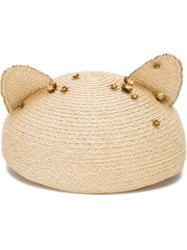 Eugenia Kim Cat Ear 'Caterina' Hat Nude And Neutrals