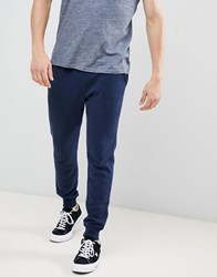 Hollister Core Icon Logo Cuffed Jogger In Navy