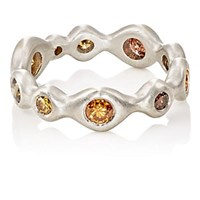 Malcolm Betts Wobbly Eternity Ring Platinum