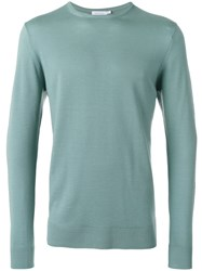 Sunspel Crew Neck Jumper Green