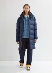 Rains Long Puffer Jacket Blue
