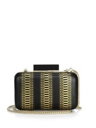 Alice Olivia Shirley Laser Clutch Black Gold