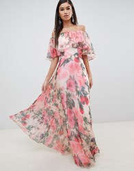 Forever Unique Floral Bardot Maxi Dress Multi
