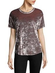 Feel The Piece Arielle Crushed Velvet T Shirt Crystal