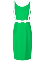 Capucci Fitted Bow Dress Green