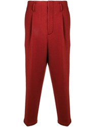 3.1 Phillip Lim Cropped Pleated Trouser Red