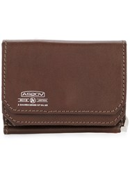 As2ov Mobile Money Clip Bullhide Leather Brown