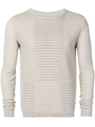 Rick Owens Ribbed Sweater Neutrals