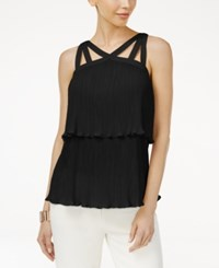 Thalia Sodi Pleated Popover Top Only At Macy's Deep Black