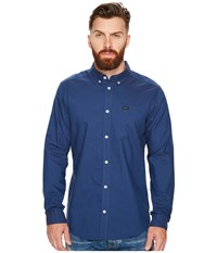 Rvca That'll Do Oxford Long Sleeve Lapis Long Sleeve Button Up Navy