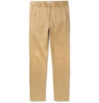 Acne Studios Alfred Slim Fit Cotton Blend Twill Trousers Neutral