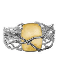 Michael Aram Enchanted Forest Twig Crossover Bangle W 18K Gold