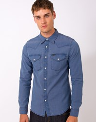 Lee L643 Western Shirt Supply Blue