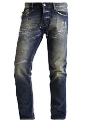Scotch And Soda Dean Hero Straight Leg Jeans Destroyed Denim