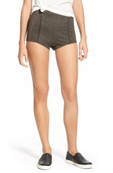 Volcom 'Corta Shorta' Metallic Shorts Black