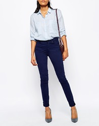 Paul By Paul Smith High Waisted Jeans In Inidgo Blue