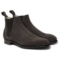 Edward Green Camden Suede Chelsea Boots Dark Brown