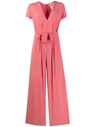 Semicouture Belted Jumpsuit Pink