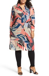 Vince Camuto Plus Size Women's Modern Tropics Long Tunic